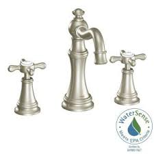 Moen Weymouth Wall Faucet by Moen Weymouth 8 In Widespread 2 Handle High Arc Bathroom Faucet