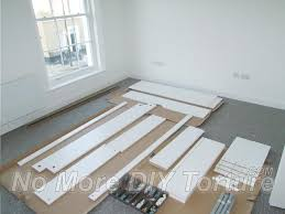 extra space is required to assemble flatpack furniture correctly