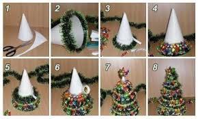 Christmas Craft Ideas For Kids Handmade Trees From Available Materials Part 6