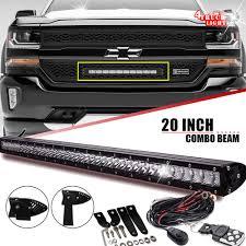 100 Chevy Silverado Truck Parts Single Row Slim 20Inch 10000LM LED Light Bar For 20162017 CHEVY