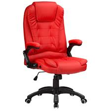 RayGar Red Reclining Office Chair Executive Home Swivel PC Computer ...