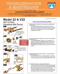 Freeze Proof Faucet Diagram by Woodford Model 22 And Cold Freezeless Faucet
