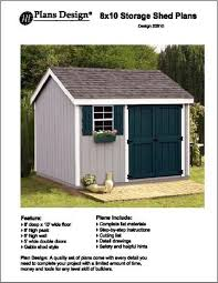 8x10 Shed Plans Materials List by 8 U0027 X 10 U0027 Gable Storage Shed Project Plans Design 10810