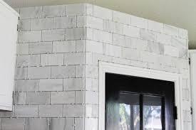 Grey Tiles With Grey Grout by That Hampton Carrara Marble Backsplash Done Zo Chris Loves Julia