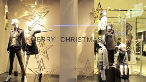ZARA Starry Merry Christmas Window Display