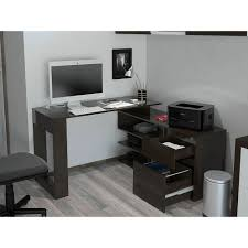 Walker Edison 3 Piece Contemporary Desk Multi by Alteza Espresso L Shaped Desk With Lock Drawer And File Drawer