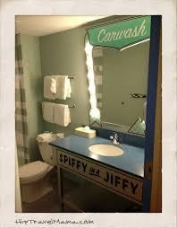 Cars Bathroom by Hip Travel Mama Seattle Travel Expert Walt Disney World U0027s Art