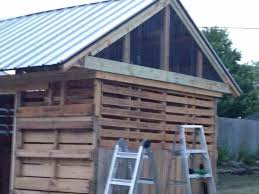 Repurposed Wooden Pallet Shed