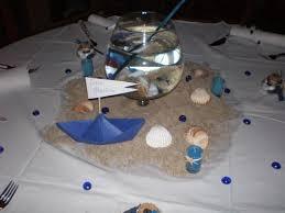 décoration de table thème mer