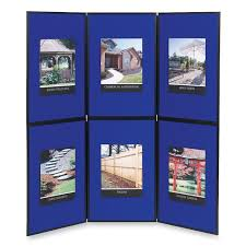 Quartet Show It Display System 6 X Feet Double Sided Blue Gray Simply Remove And Unfold The Lightweight Trifold Panels From