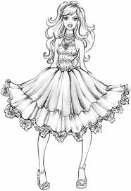 Kids Printables Homely Design Coloring Pages Fashion Image Detail For Barbie A Fairytale Page