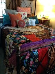 Master Bedroom Quilt Sets Gypsy Boho Bedspread Bedding Blanket Bohemian Anthropologie Inspired Moroccan