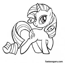 My Little Pony Friendship Is Magic Rarity Coloring Pages Print