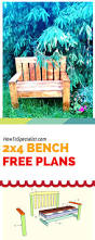 Wood Garden Bench Plans Free by How To Build A 2x4 Garden Bench Easy To Follow Free Plans Ideas