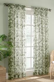 Sheer Curtains Walmart Canada by The Fiji Curtains Featuring A Lovely Multi Color Leaf And Stem