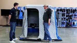 Clam Ice Fishing Seats by Clam X200 Pro Thermal Ice Fishing Shelter Youtube