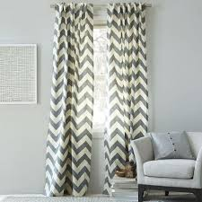 canvas zigzag curtain feather gray west elm