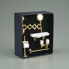 badezimmer accessoires toilettenhalter ablage zahnputzbecher und ausziehbarer spiegel in gold