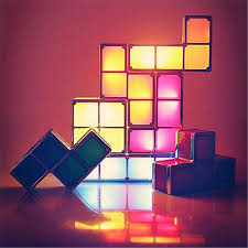 Tetris Stackable Led Desk Lamp India by Diy Tetris Puzzle Light Stackable Led Desk Lamp Constructible