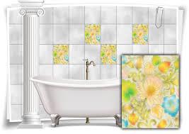 fliesen aufkleber fliesen bild kachel blumen abstrakt gemälde bad wc deko küche