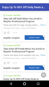 Coupons For Wayfair For Android - APK Download