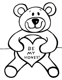 Free Printable Teddy Bear Coloring Pages For Kids Throughout Page