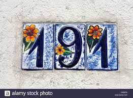 beautiful whimsical decorative glazed ceramic house number