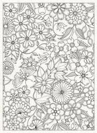Coloring Page World Floral Print Portrait Secret Garden BookAdult