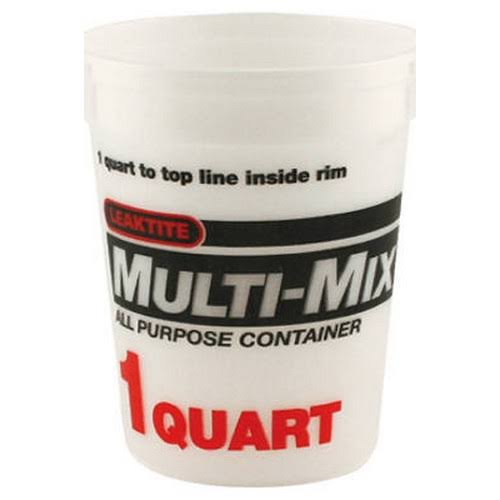 Leaktite Multi-Mix Calibrated Mixing Container - 1 qt