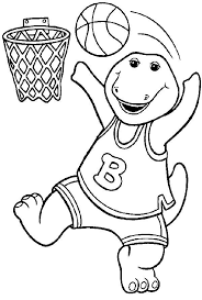 Barney Free Coloring Pages Printable
