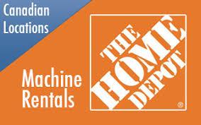 home depot machine rentals