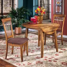 Ashley Furniture Berringer 3 Piece Drop Leaf Table 2 Upholstered Side Chairs