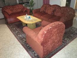 sitzgruppe 3 2 1 sitzer rot sofa