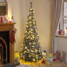 Pre Lit Pencil Christmas Trees Uk by Buy Slim U0026 Slimline Artificial Christmas Trees Online Uk