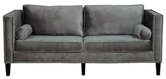 Armen Living 844 Barrister Sofa by Elizahittman Com Gray Velvet Sofa Prescott Gray Velvet Sofa