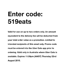 Two Free Deliveries @ Uber Eats - OzBargain Ubereats Promo Code Use This Special Eatsfcgad 10 Uber Promo Code Malaysia Roberts Hawaii Tours Coupon Uber Eats Codes Offers Coupons 70 Off Nov 1718 Eats How To Order On Eats Apply Schedule Expired Ubereats 16 One Order With Best Ubereats Off Any Free Food From Add Youtube First Time Doordash Betting Codes Australia New For Existing Users December 2018 The Ultimate Guide Are Giving Away Coupons That Expired In January