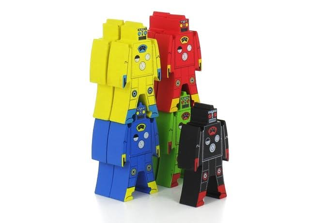 Schylling-Rowley Wooden Stacking Robots