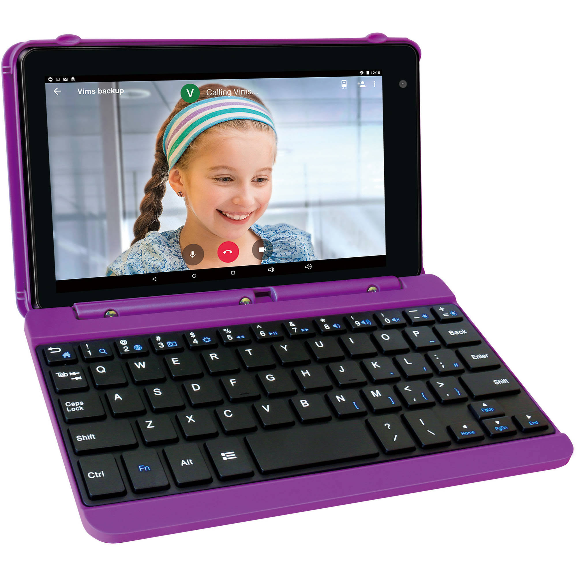 "RCA Voyager Pro Tablet + Keyboard - Purple, 7"", 16gb"