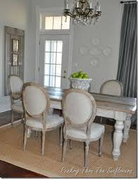 Love The Farmhouse Table With These More Formal Chairs Dining Room On
