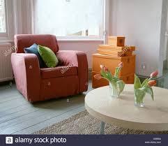wohn und esszimmer makeover nachdem wohnzimmer rote sessel