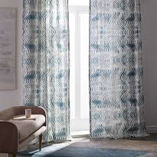 Yellow And Gray Window Curtains by Patterned Cotton Curtain West Elm