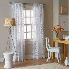 White Lace Curtains Target by Botanical Burnout Sheer Curtain Panel Threshold Target