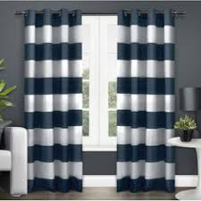 Tommy Hilfiger Curtains Special Chevron by Tommy Hilfiger Cabana Stripe Navy Blue Pair Window Curtain Panels