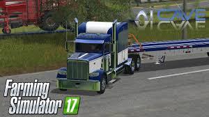 100 Semi Truck Games Farming Simulator 2017 Mods Peterbilt 388 And Manic Flatbed