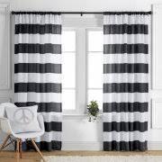 black hanging curtains
