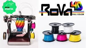 The RoVa4D Full Color Blender Is Worlds First Affordable 3D Printer It