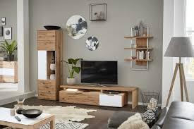 interliving wohnzimmer serie 2005 wohnkombination astbuche weißes glas vierteilig ca 306 cm