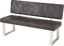 lifestyle4living esszimmerbank mit rückenlehne anthrazit 2 sitzer vintage look rückenecht sitzbank für esszimmer mit bequemer polsterung füße
