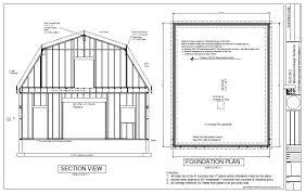 g440 28 u2032 x 36 u2032 x 10 u2032 gambrel barn workshop plans blueprint free