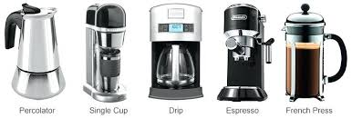 Different Types Of Coffee Makers Maker Drip